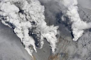 जापान में ज्वालामुखी फटा