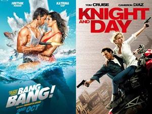 2 अक्टूबर को रिलीज़ हुई 'बैंग बैंग' 2010 में बनी अंग्रेज़ी फिल्म 'नाइट एंड डे' से प्रेरित है।