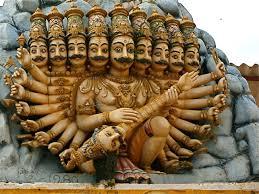 श्रीलंका के कोनेश्वरम मंदिर में है रावण की मूर्तियां। फोटो साभार : panoramio.com