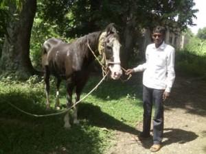 अपने घोड़े के साथ राम