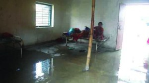 प्रसव भवन में लागल पानी