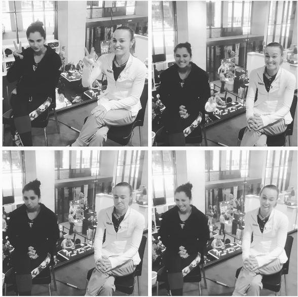 एक इंटरव्यू में सानिया ने मार्टीना के बारे में कहा कि, 'खेल और खेल से बाहर, हम एक दूसरे पर बहुत भरोसा करते हैं। इसलिए हमें खेल के दौरान मुश्किलों का सामना करने में हिम्मत मिलती है। '