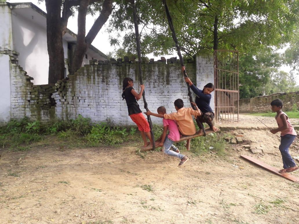 children enjoying springs season