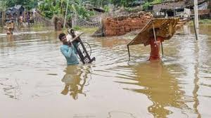 Many rivers are at the danger mark due to floods in Bihar.