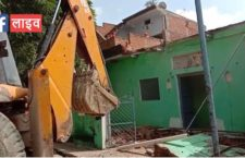 Houses of people being demolished for road widening