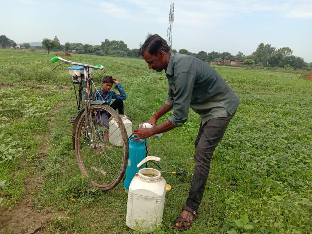 Initiative of farmers to change crop yield