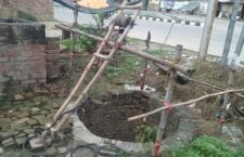 Rakari well collapsed, villagers forced to drink stinky water