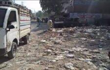 chaubepur bazar is full of litter