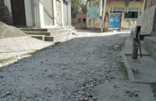 The entire village is disturbed by pothole roads