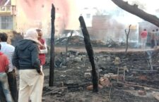 13 shops and two vehicles burnt due to fire