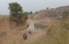 Water filled with being in the slope of Bundela Nala