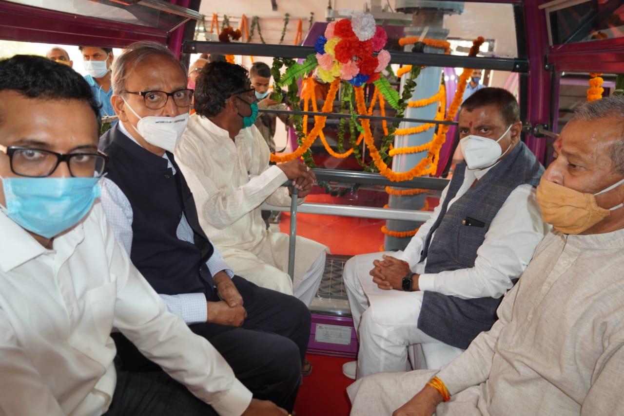 MLA created ruckus regarding ropeway work in Chitrakoot