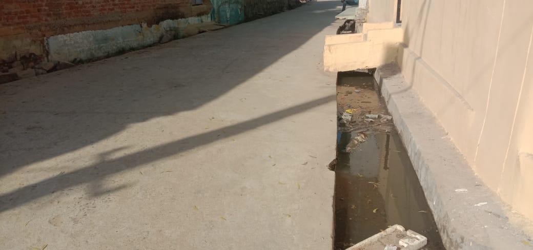 Due to the drainage high, the water of the slum is not coming out