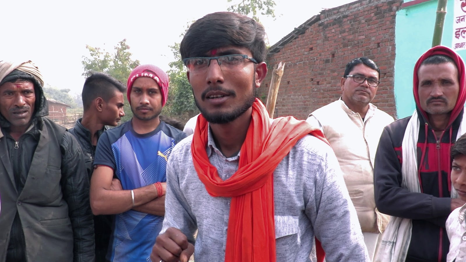 """Satyam Tiwari, a local Hindu Yuva Vahini leader has been working on building a gaushala for some time now and wears his love of gaumata on his sleeve. """"If people don't understand the language of love, then we can use sticks,"""" he told KL in 2019."""