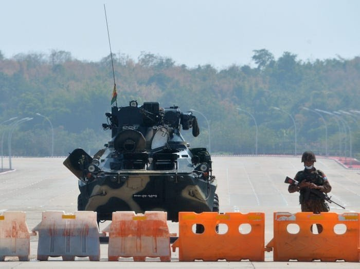 Army coup in Myanmar
