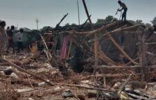 अचानक आग लगने से लगभग पांच लोगों के घरों में लाखों का हुआ नुकसान