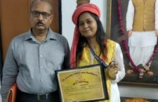 sakshi increased the value of the district by getting a gold medal in mass communication