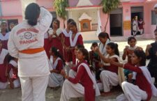 panna Karate is teaching girl students for self defense