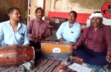 Local singer Ajay uf Nathu Yadav in village Chiragaon, village Barai