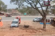 in chitrakoot Road construction stopped in the middle