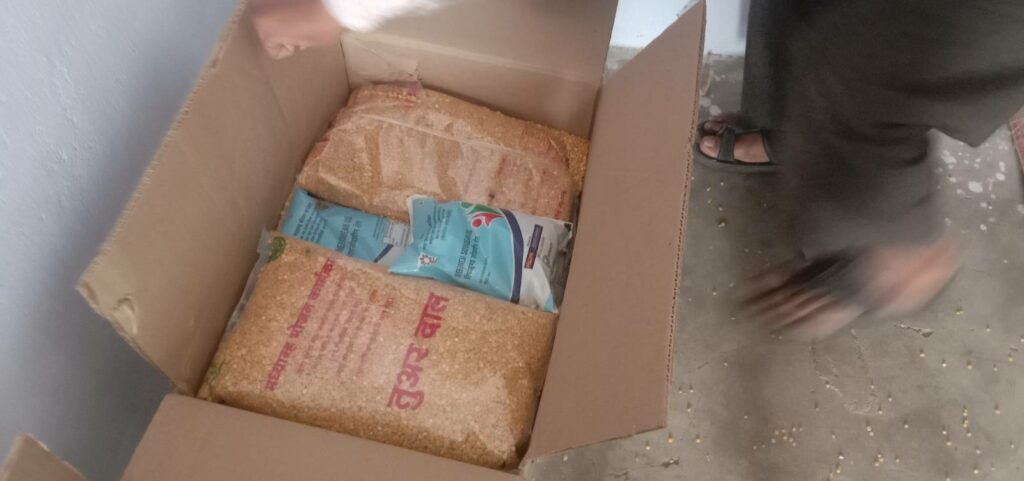 Dried grain distribution in schools