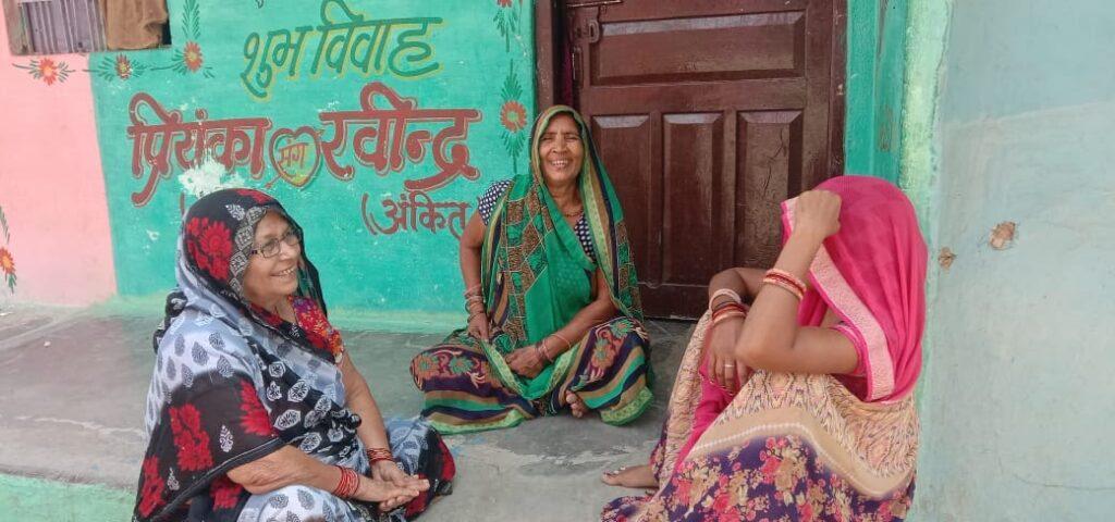 Women in Tarauha village, Karwi, Chitrakoot. May 2021.