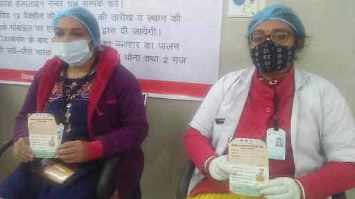 vaccination image by khabar lahariya